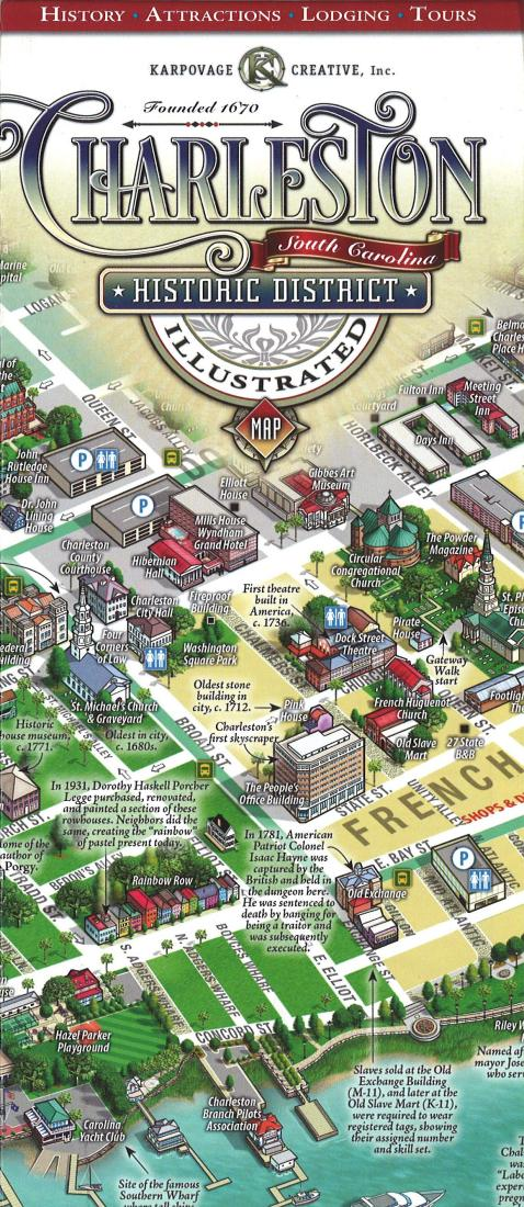 Cover of  Charleston Historic District Map, Illustrated