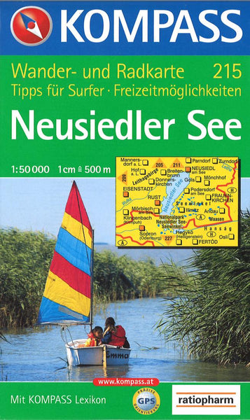 Cover of Neusiedler See Hiking Map By Kompass