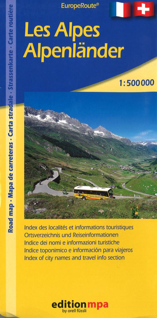 Cover of The Alps Road Map by Edition MPA by Orell Fussli