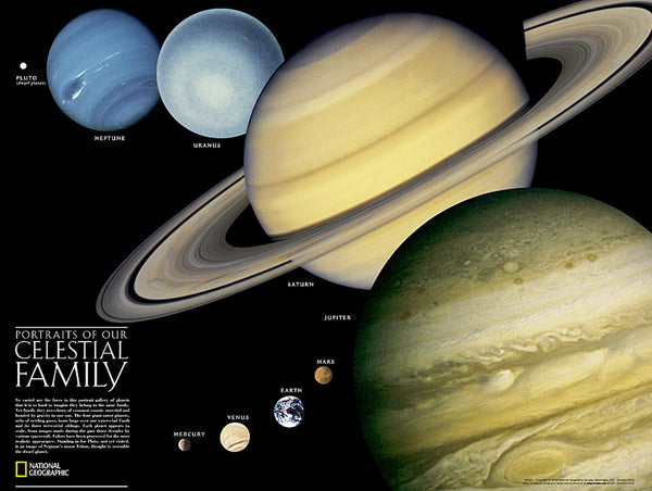 Cover of The Solar System: 2-sided Wall Map by National Geographic Maps