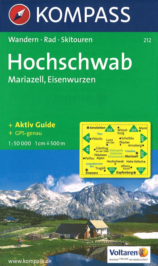 Cover of Hochschwab - Mariazell Hiking Map By Kompass