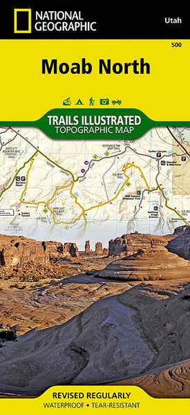 Moab, North, Map 500 by National Geographic