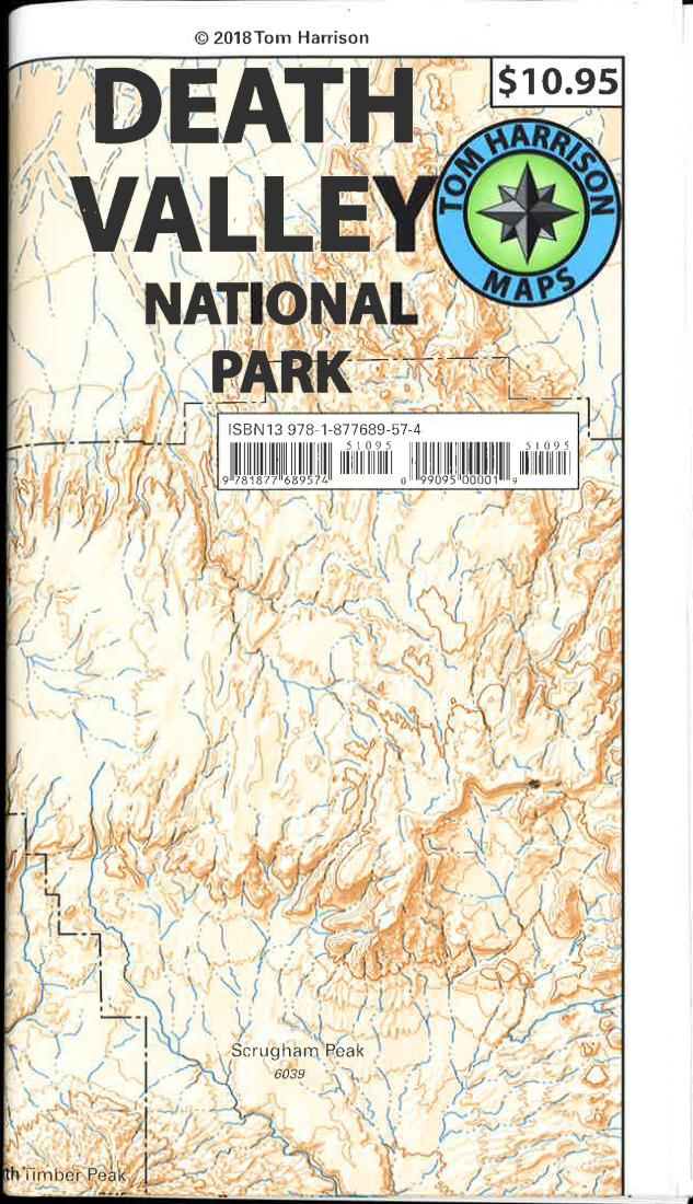 Cover of folded Map of Death Valley National Park, California by Tom Harrison Maps
