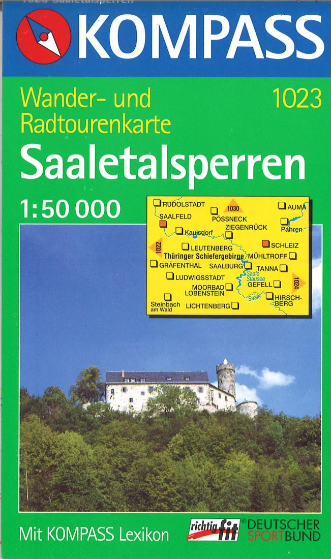 Cover of Saaletalsperren Hiking Map By Kompass