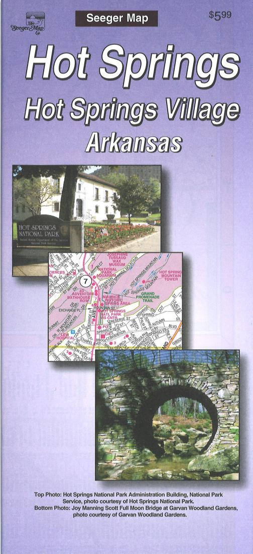 Cover of Hot Springs and Hot Springs Village, Arkansas by The Seeger Map Company Inc.