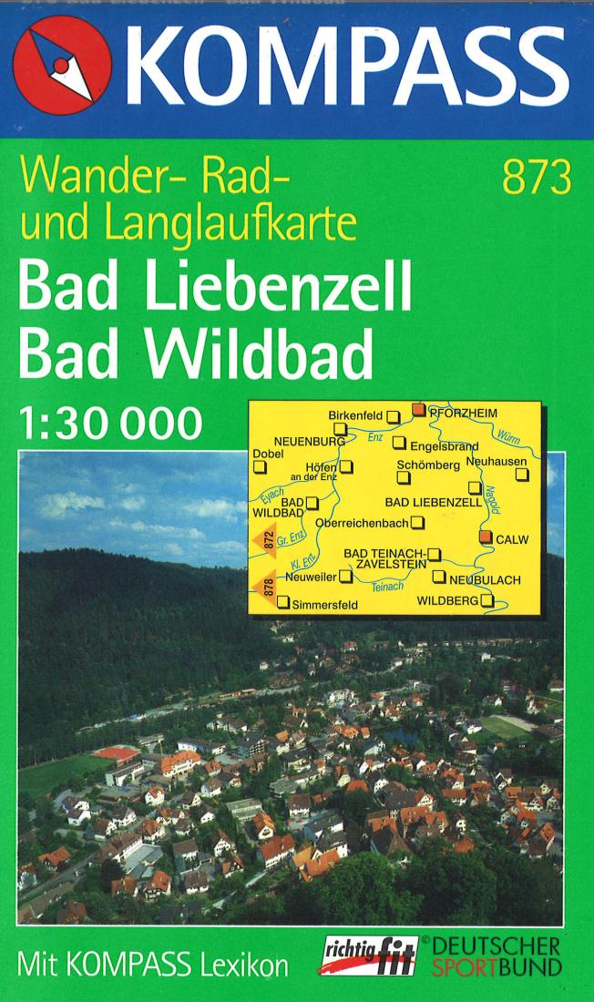 Cover of Bad Liebenzell & Bad Wildbad Hiking Map By Kompass
