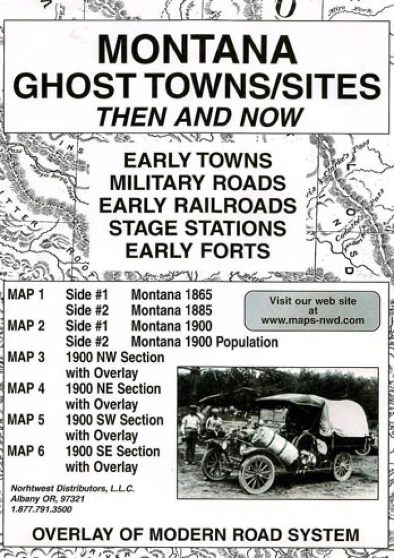 Cover of Montana, Ghost Towns, 5-Map Set, Then and Now