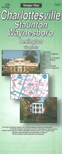 Cover of Charlottesville, Staunton, Waynesboro and Lexington, Virginia by The Seeger Map Company Inc.