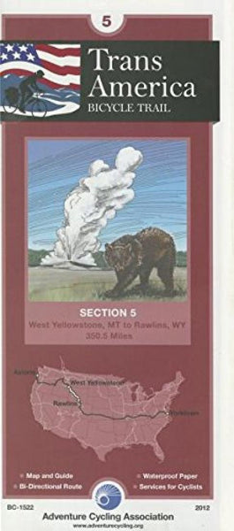 Cover of TRANSAMERICA BICYCLE TRAIL #5 : West Yellowstone, Montana - Rawlins, Wyoming