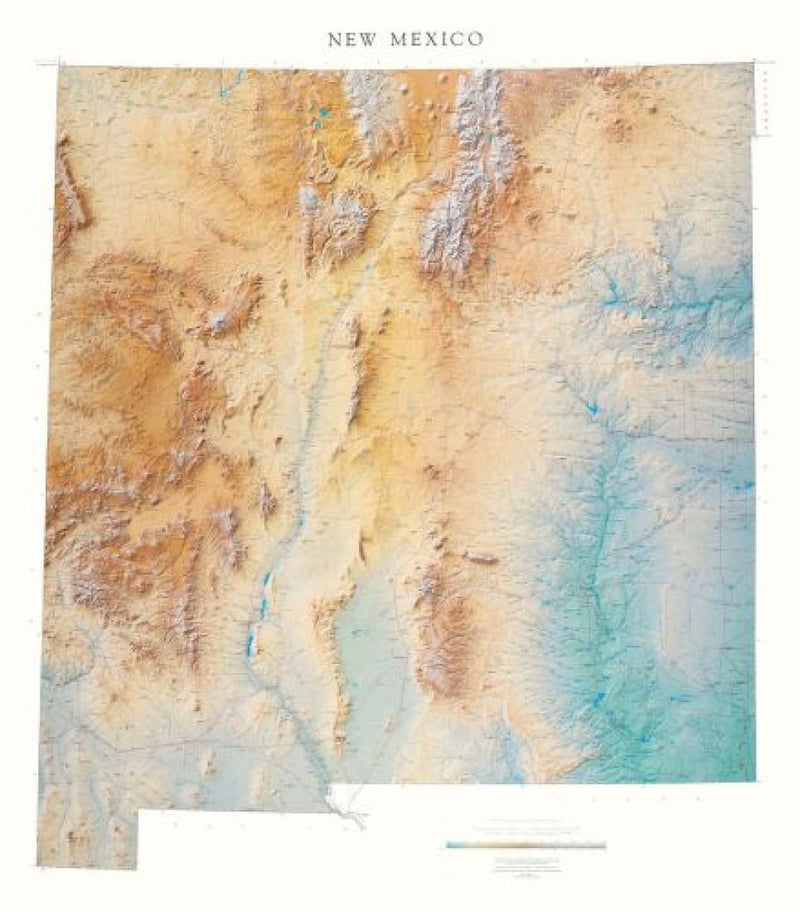 Cover of New Mexico Physical Wall Map by Raven Maps