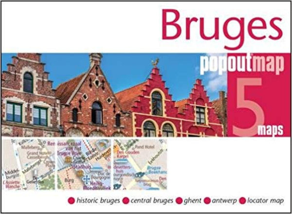 Cover of Bruges, Belgium, PopOut Map