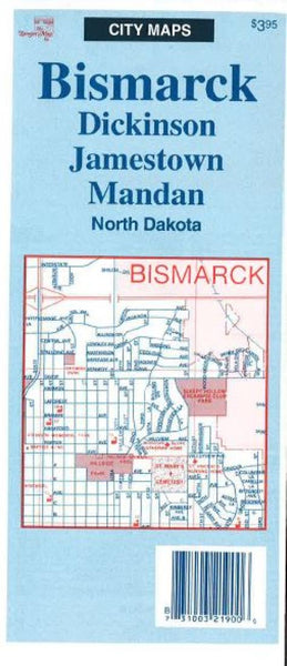 Cover of Bismarck, Dickinson, Jamestown, and Mandan, North Dakota by The Seeger Map Company Inc.