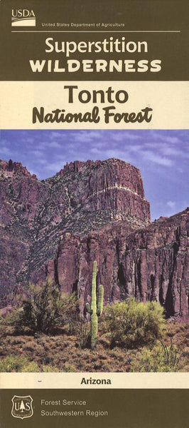 Cover of Superstition Wilderness: Tonto National Forest Map by U.S. Forest Service