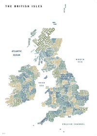 Cover of Graphic Map UK counties white background by Oxford Cartographers
