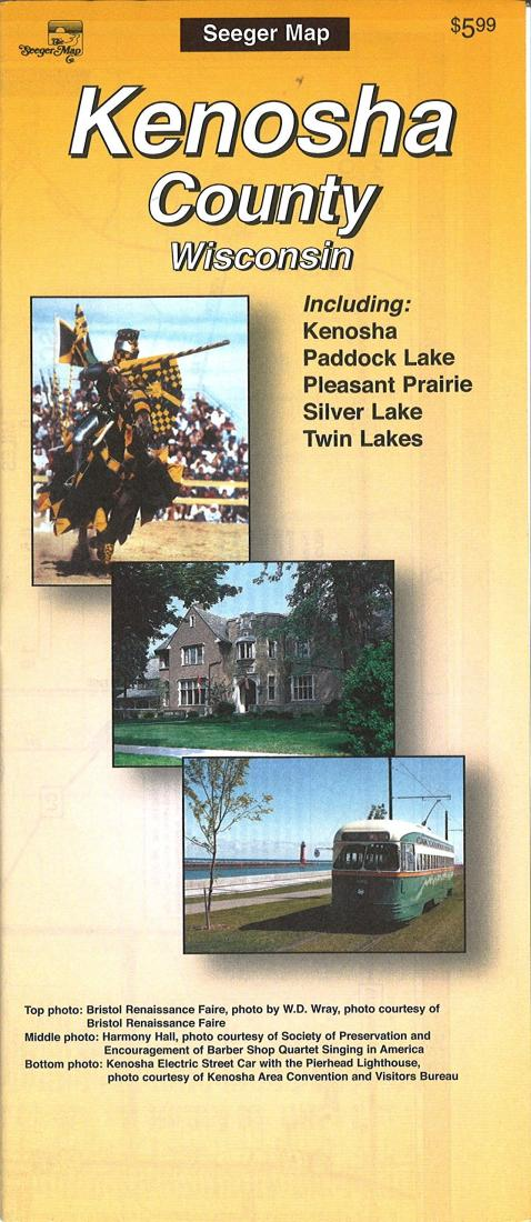 Cover of Kenosha County, Wisconsin by The Seeger Map Company Inc.