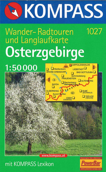 Cover of Eastern Ore Mountains Hiking Map By Kompass