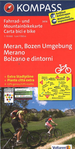 Cover of Bolzano and Merano Cycling Map By Kompass