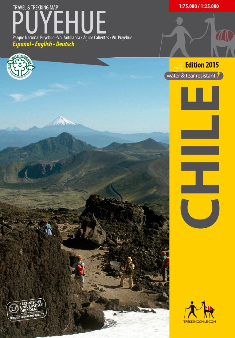 Cover of Puyehue Travel & Trekking Map by Trekking Chile