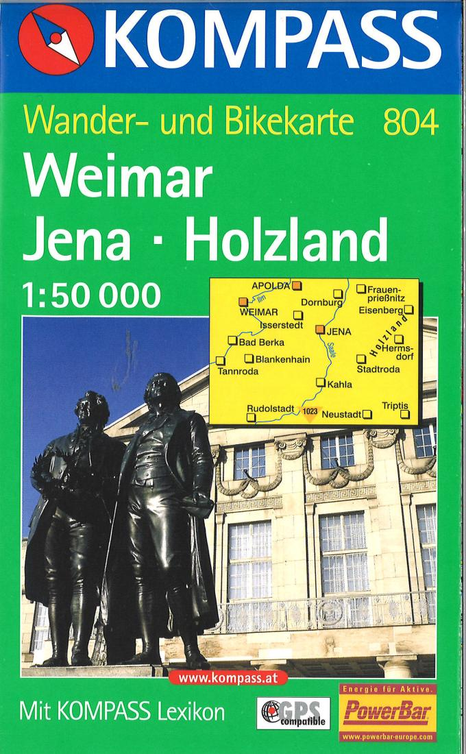 Cover of Weimar-Jena-Holzland Hiking Map By Kompass