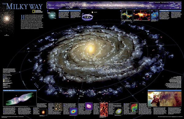 Cover of The Milky Way Wall Map by National Geographic Maps