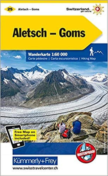Cover of Aletsch - Lotschental - Goms : Switzerland Hiking Map #25 by Kummerly + Frey