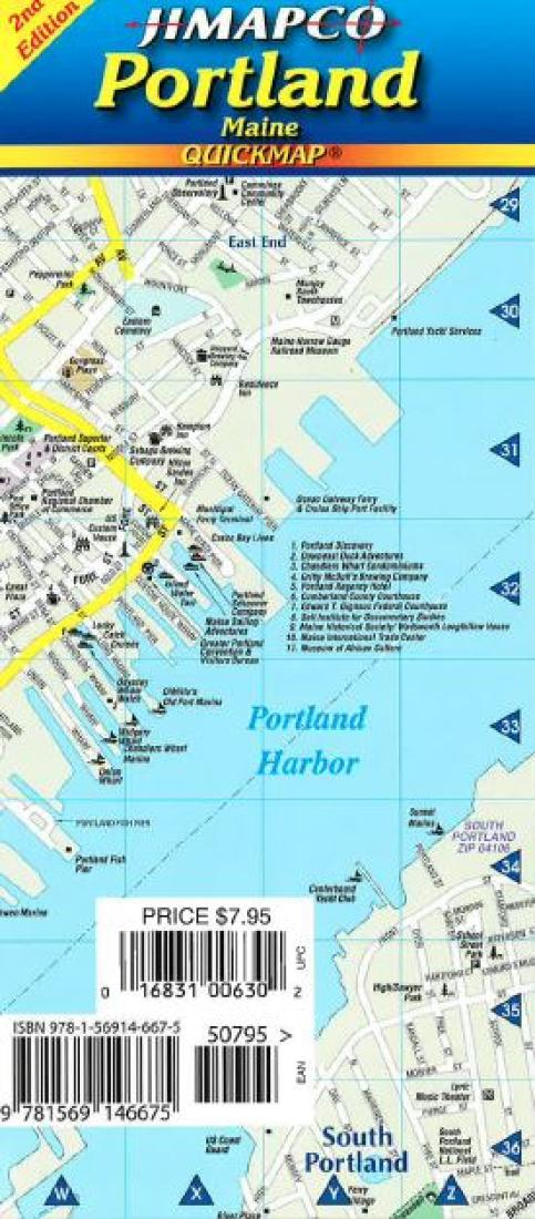 Cover of Portland, Maine, Quickmap by Jimapco