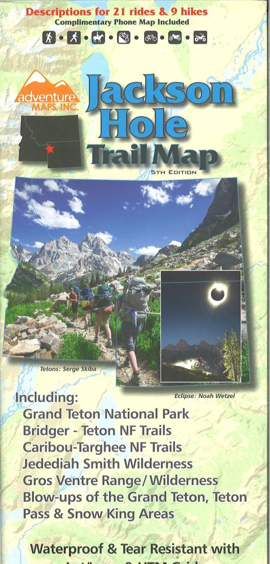 Cover of Jackson Hole Trail Map, 4th edition by Adventure Maps