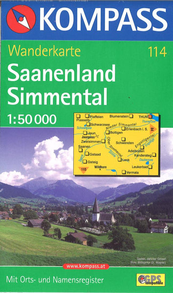 Cover of Saanenland - Simmental Hiking Map By Kompass