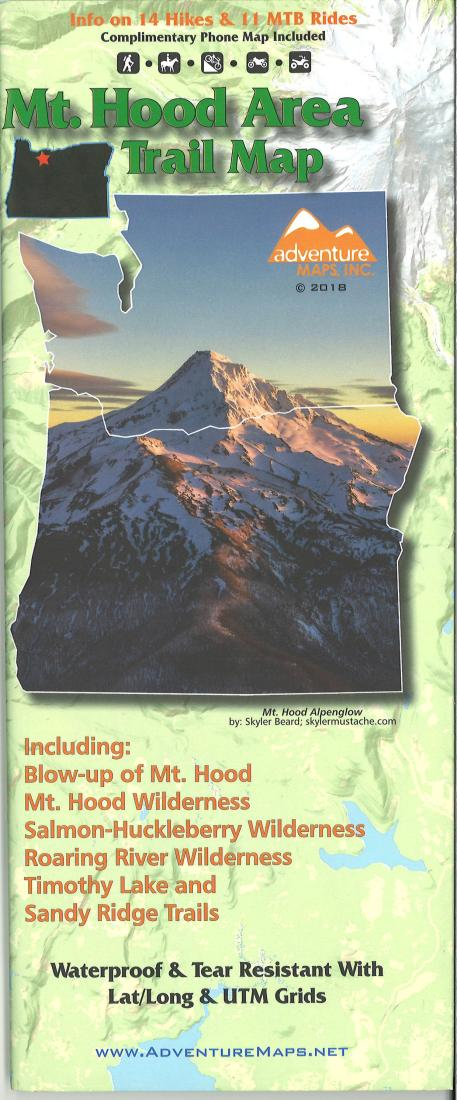 Cover of Mt. Hood Area Trail Map by Adventure Maps
