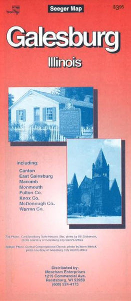 Cover of Galesburg, Illinois by The Seeger Map Company Inc.