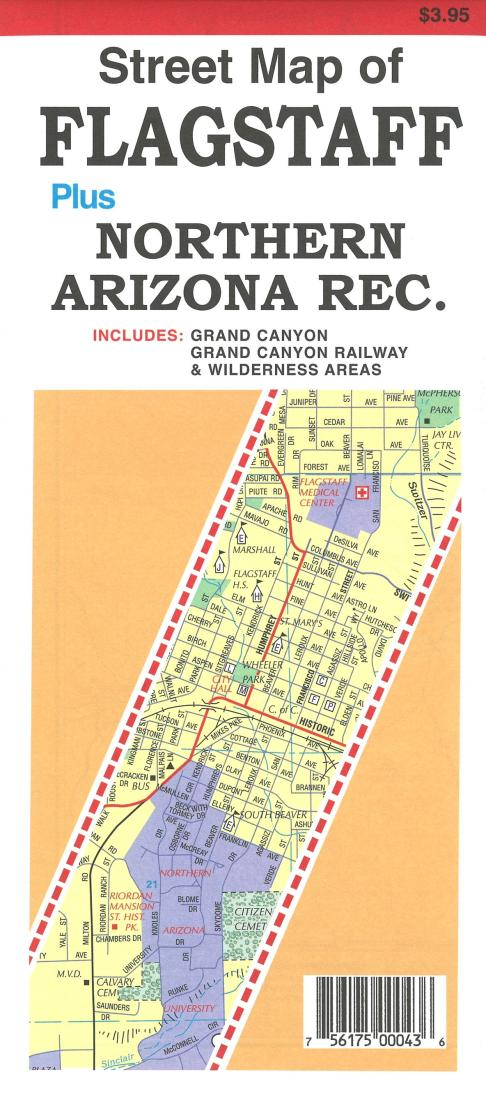 Cover of Street Map of Flagstaff and Northern Arizona Recreation areas by North Star Mapping