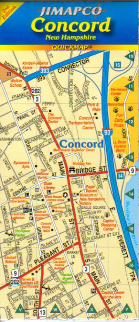 Cover of Concord, New York, Quickmap by Jimapco