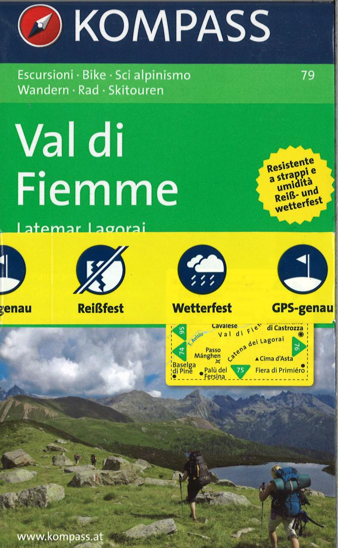 Cover of Val di Fiemme Hiking Map By Kompass