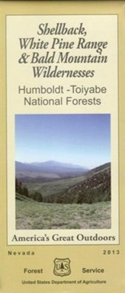 Cover of Shellback, White Pine Range & Bald Mountain Wilderness Map by U.S. Forest Service