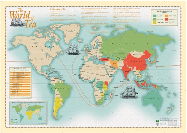 Cover of World of Tea Wall Map by Oxford Cartographers