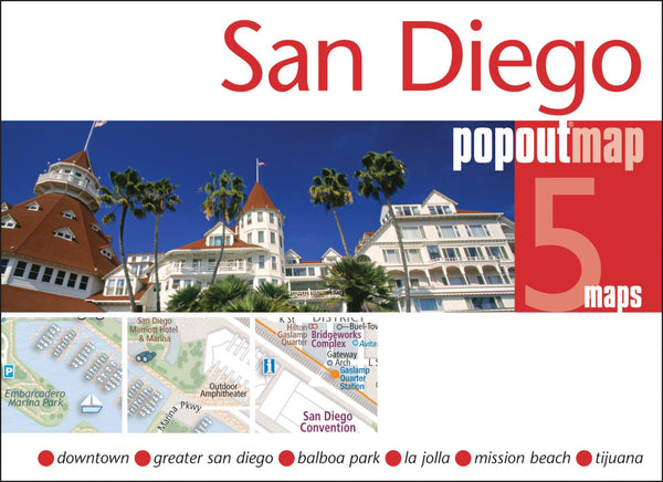 Cover of San Diego, California, PopOut Map