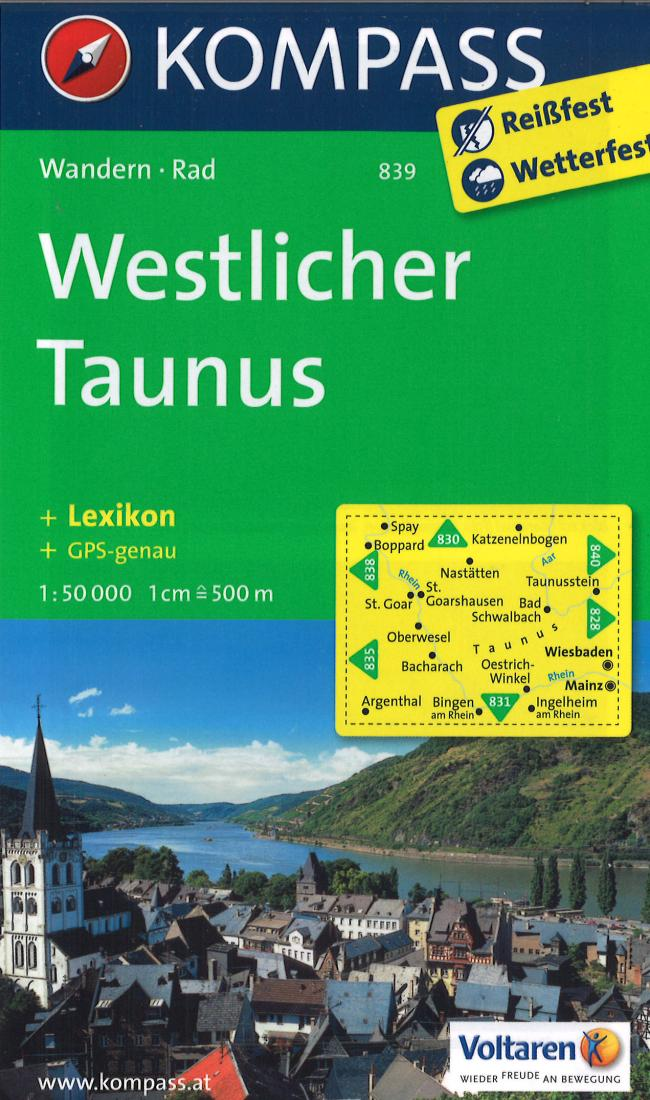 Cover of Western Taunus Hiking Map By Kompass