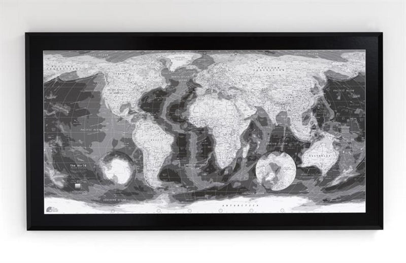 Cover of Classic World Map: Monochrome by Future Mapping Company