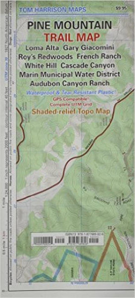 Cover of folded Map of Pine Mountain, California Trail Map by Tom Harrison Maps