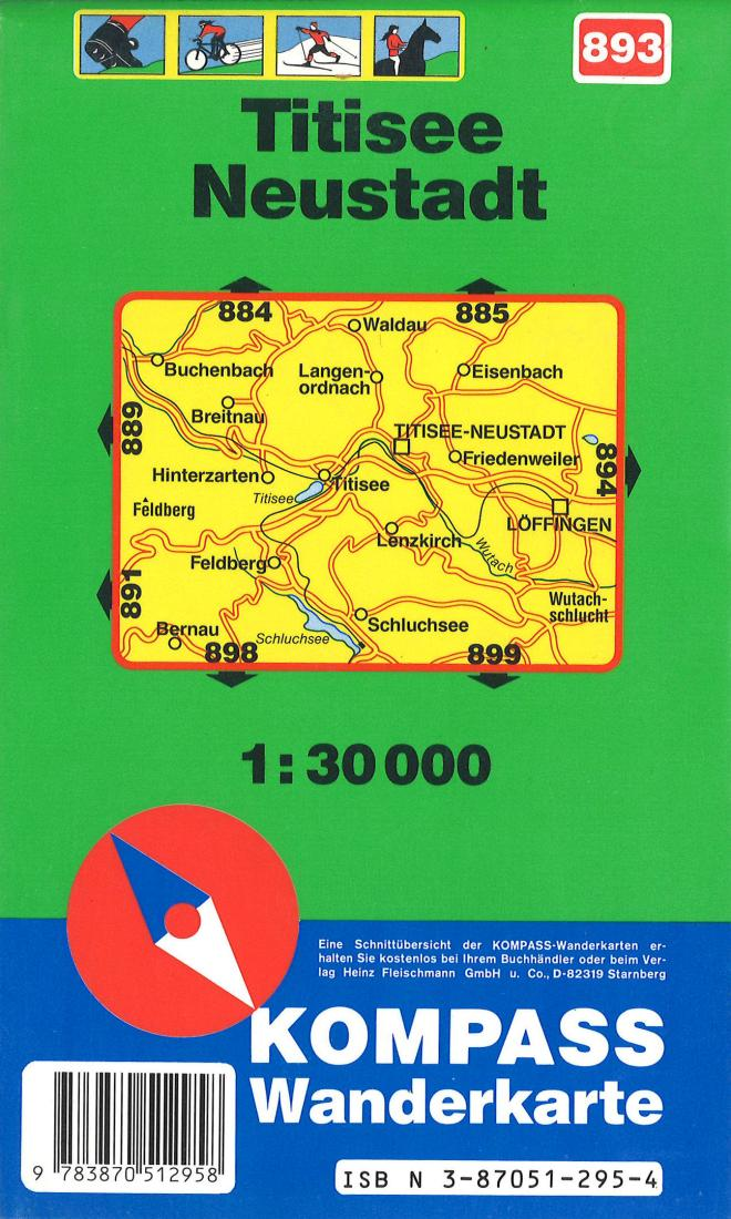 Cover of Titisee - Neustadt Hiking Map By Kompass