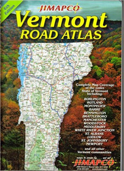 Cover of Vermont, Road Atlas by Jimapco