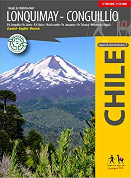 Cover of Lonquimay Travel & Trekking Map by Trekking Chile