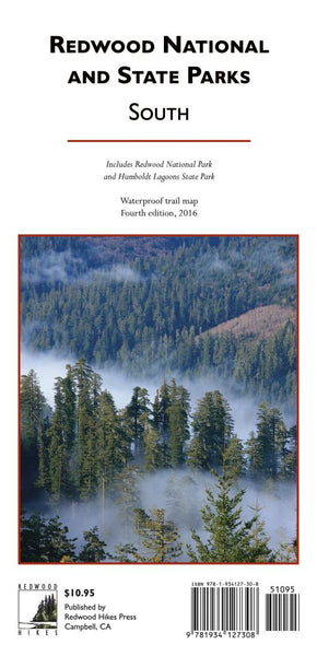 Cover of Redwood National and State Parks, South, waterproof by Redwood Hikes Press