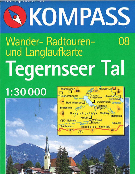 Cover of Tegernseer Tal Hiking Map By Kompass