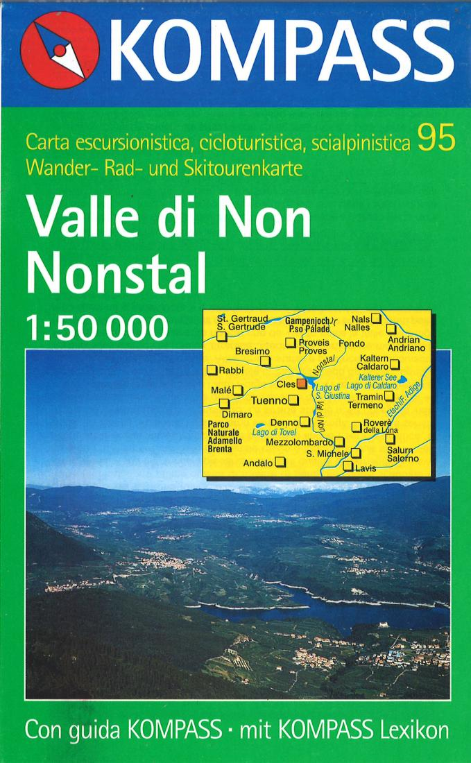 Cover of Valle di Non Nonstal Hiking Map By Kompass
