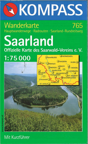 Cover of Saarland Hiking Map By Kompass