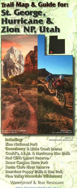 Cover of St. George, Hurricane, and Zion National Park, Utah, Trail Map and Guide by Adventure Maps