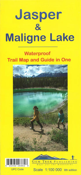 Cover of Jasper and Maligne Lake, BC Trail Map and Guide in One
