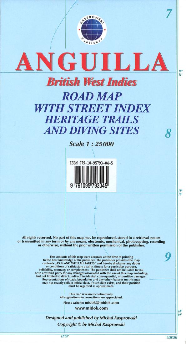 Cover of Anguilla, British West Indies, Road Map