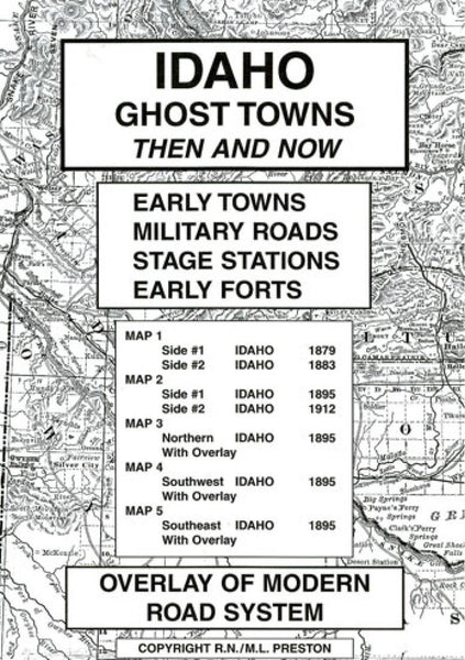 Cover of Idaho, Ghost Towns, 5-Map Set, Then and Now